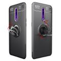 Black Oppo Reno 10X Zoom Slim Protection Metal 360 Ring Stand Case - 5