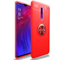 Red Oppo Reno 10X Zoom Slim Armor 360 Rotating Ring Stand Case - 1