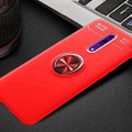 Red Oppo Reno 10X Zoom Slim Armor 360 Rotating Ring Stand Case - 2