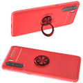 Red Oppo A91 Tough Slim Armor Shock Proof Metal Ring Stand Case - 3