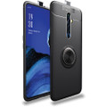 Black Oppo A5 / A9 2020 Slim Armor Metal 360 Rotating Ring Stand Case - 1