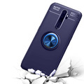 Blue Oppo A5 / A9 2020 Shock Proof Metal 360 Rotating Ring Stand Case - 6