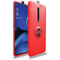 Red Oppo A5 / A9 2020 Tough Slim Armor Metal 360 Degree Stand Case - 1