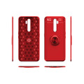 Red Oppo A5 / A9 2020 Tough Slim Armor Metal 360 Degree Stand Case - 4