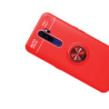 Red Oppo A5 / A9 2020 Tough Slim Armor Metal 360 Degree Stand Case - 5