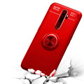 Red Oppo A5 / A9 2020 Tough Slim Armor Metal 360 Degree Stand Case - 6
