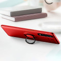 Red Oppo Find X2 Pro Slim Armor Metal Circle Holder Ring Stand Case - 2