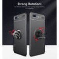 Black Slim Armor Metal Holder 360 Ring Stand Case For Oppo AX5 / A3S - 8
