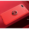 Red Oppo AX5 / A3S Tough Armor Metal Holder 360 Ring Stand Case - 2