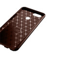 Brown Oppo AX5 / A3S  Flexible Shock Proof Carbon Fibre Case - 3