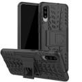Black Samsung Galaxy A20 / A30 Heavy Duty Kickstand Stand Case - 1