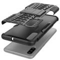 Black Samsung Galaxy A20 / A30 Heavy Duty Kickstand Stand Case - 2