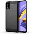 Black Samsung Galaxy A51 Carbon Fibre Slim Armor Protective Case - 1