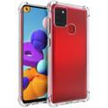 Clear Samsung Galaxy A21s Shock-Absorption Ultra Slim Gel Case - 1