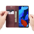 Red Wine Oppo AX7 CaseMe Compact Flip Magnetic Wallet Case - 1