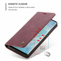 Red Wine Oppo AX7 CaseMe Compact Flip Magnetic Wallet Case - 4