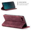 Red Wine Oppo AX7 CaseMe Compact Flip Magnetic Wallet Case - 2