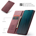 Red Wine Oppo AX7 CaseMe Compact Flip Magnetic Wallet Case - 3