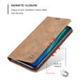 Vintage Brown Oppo A9 2020 CaseMe Compact Flip  Wallet Case  - 3