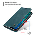 Blue CaseMe Magnetic Compact Flip Wallet Case For Oppo A9 2020 - 2