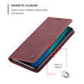 Red Wine Oppo A9 2020 CaseMe Compact Flip Magnetic Wallet Case - 5