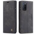Black Oppo A52 CaseMe Compact Flip Premium Wallet Case - 1