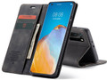 Black Oppo A52 CaseMe Compact Flip Premium Wallet Case - 3