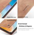 Vintage Brown Oppo A52 CaseMe Compact Flip  Wallet Case  - 5