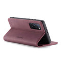 Red Wine Oppo A52 CaseMe Compact Flip Magnetic Wallet Case - 4