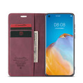 Red Wine Oppo A52 CaseMe Compact Flip Magnetic Wallet Case - 2