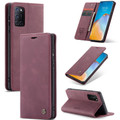 Red Wine Oppo A52 CaseMe Compact Flip Magnetic Wallet Case - 5
