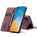 Red Wine Oppo A52 CaseMe Compact Flip Magnetic Wallet Case - 6