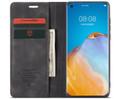 Black Oppo A72 CaseMe Compact Flip Premium Wallet Case - 1