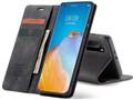 Black Oppo A72 CaseMe Compact Flip Premium Wallet Case - 5