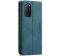 Blue CaseMe Magnetic Compact Flip Wallet Case For Oppo A72 - 2