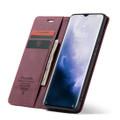 Red Wine Oppo Reno Z CaseMe Compact Flip Magnetic Wallet Case - 1