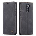 Black Oppo Reno 2z CaseMe Compact Flip Premium Wallet Case - 1