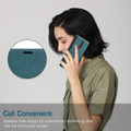 Blue CaseMe Magnetic Slim Flip Wallet Case For Oppo Reno 10X Zoom - 2