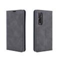 Black Oppo Find X2 Pro CaseMe Slim Flip Premium Wallet Case - 3