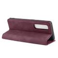 Wine Oppo Find X2 Pro CaseMe Slim Flip Magnetic Wallet Case - 4