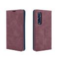 Wine Oppo Find X2 Pro CaseMe Slim Flip Magnetic Wallet Case - 3
