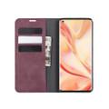 Wine Oppo Find X2 Pro CaseMe Slim Flip Magnetic Wallet Case - 2