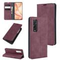 Wine Oppo Find X2 Pro CaseMe Slim Flip Magnetic Wallet Case - 1