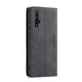 Black Huawei Nova 5T Premium CaseMe Thin Magnetic Wallet Case - 3