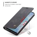 Black Huawei Nova 5T Premium CaseMe Thin Magnetic Wallet Case - 4