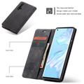 Black Huawei Nova 5T Premium CaseMe Thin Magnetic Wallet Case - 5