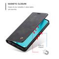 Black Huawei Mate 20 pro Genuine CaseMe Compact Flip Wallet Case - 2