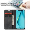 Black Huawei Mate 20 pro Genuine CaseMe Compact Flip Wallet Case - 3