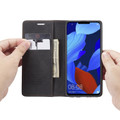 Black Huawei Mate 20 pro Genuine CaseMe Compact Flip Wallet Case - 4