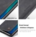 Black CaseMe Premium PU Leather Wallet Case For Huawei Mate 20  - 4